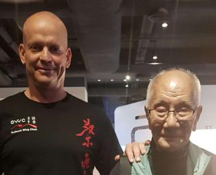 Grandmaster Ip Chun with Sifu Gordon