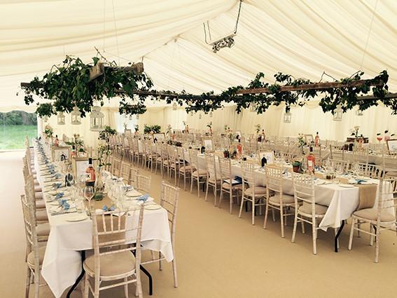 Tents & Marquees Shrewsbury Shropshire Rustic Wedding Marquee