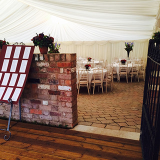 Marquee over a couryard Tents & Marquees Shrewsbury Shropshire