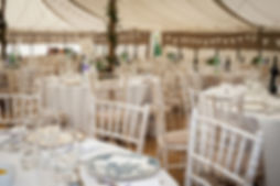 Marquee Venue in Shropshire at Pulverbatch Village Hall. Wedding Caterers Roslin Catering