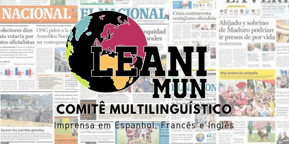 Comitês Multilinguísticos - LEANI MUN 2019
