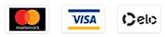 Aceitamos cartões de crédito, débito, boleto e transferência