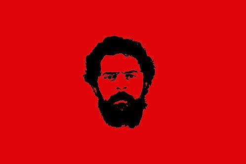 Bandeira Lula - rosto