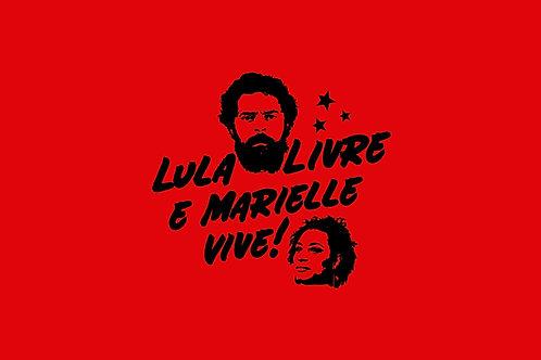 Bandeira Lula e Marielle