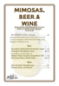 Mimosas, Beer & Wine
