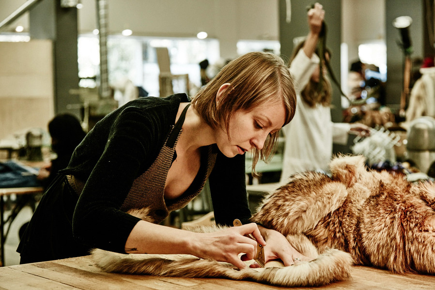 ADRIENNE: Working as a fur artisan at the Canadian Hat - Harricana workshop in Verdun