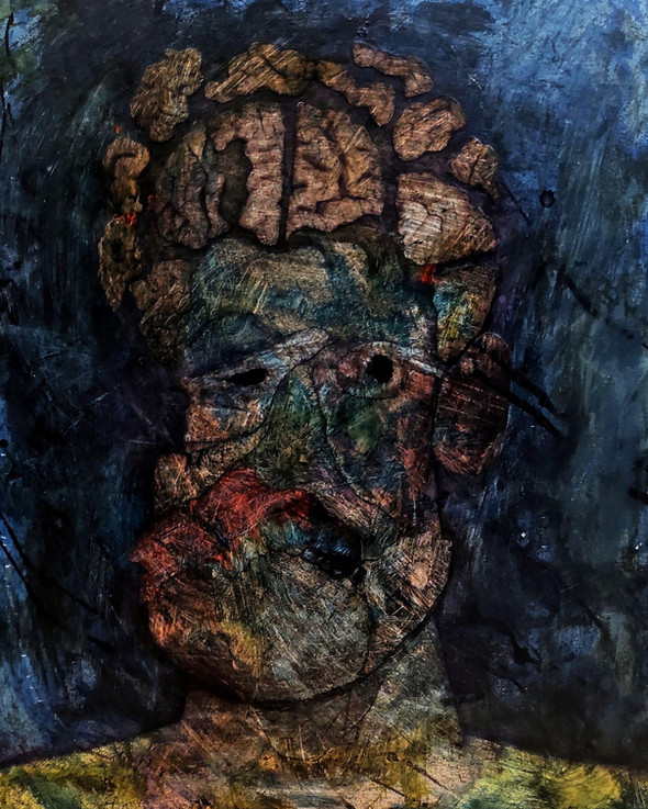 Puzzled Man with Large Brain, 2021