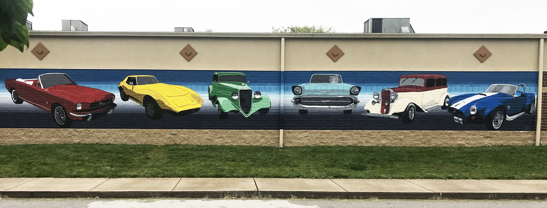 Classic Cars Mural