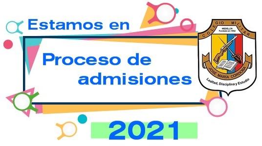 Proceso de admisiones año 2021