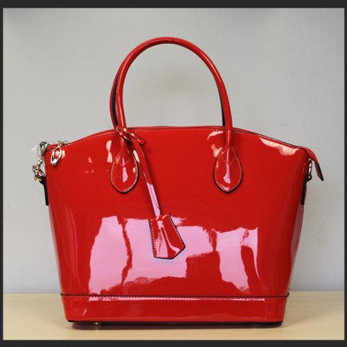 GLOSSY RED HANDBAG