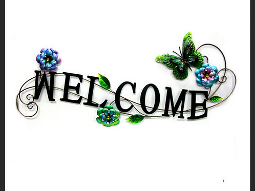 """METAL """"WELCOME"""" SIGN"""
