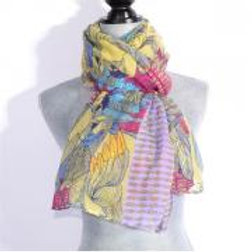 YELLOW PARROT PARADISE SCARF