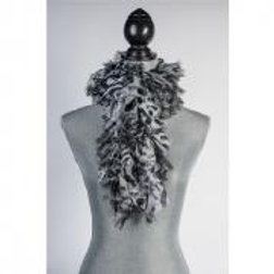 BLACK / WHITE SAFARI RUFFLE SCARF