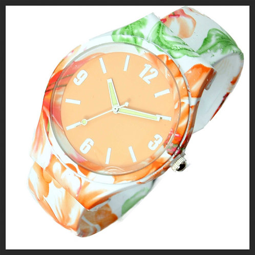 ORANGE BLOSSOM BANGLE WATCH