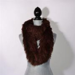 """COFFEE"" FLUFFY INFINITY SCARF"