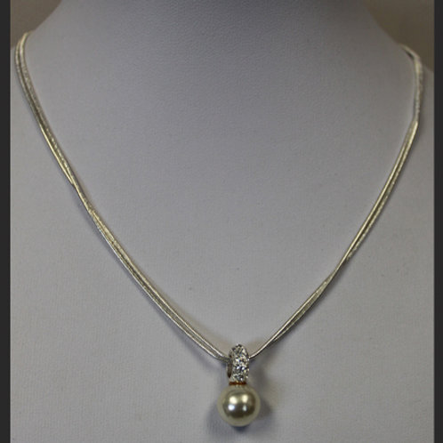 2 STRAND WITH PEARL PENDANT