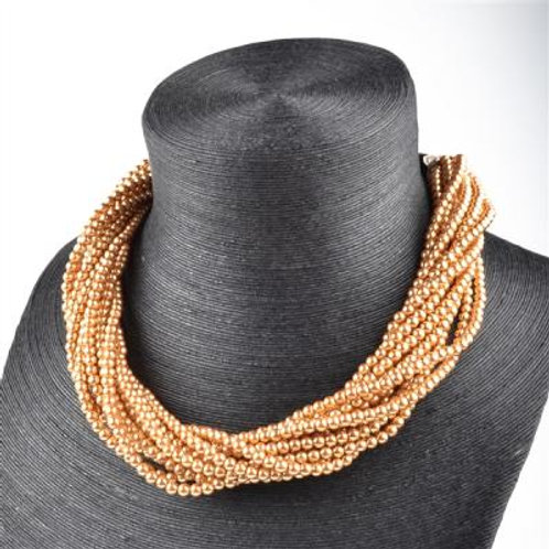 TWISTED MULTI STRAND PEARL NECKLACE