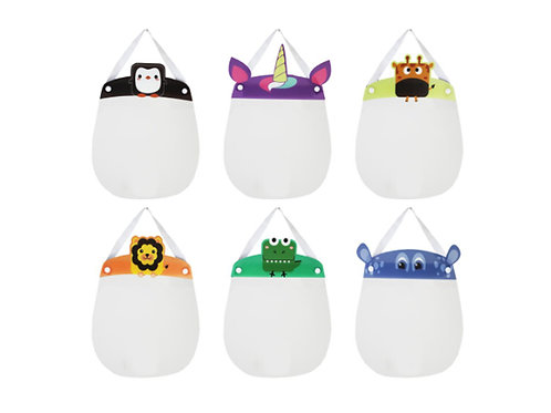 KIDS ANIMAL FACE SHIELDS
