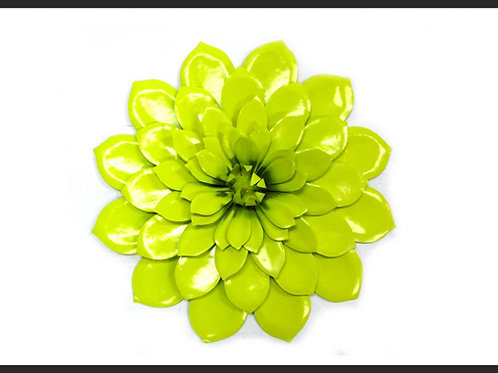 METAL DAHLIA FLOWER WALL ART