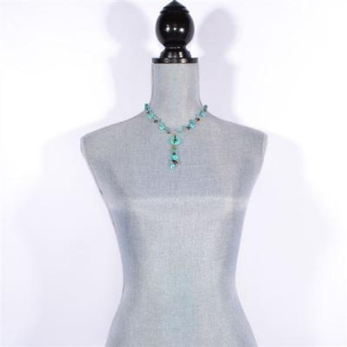 "16"" TURQUOISE NECKLACE"