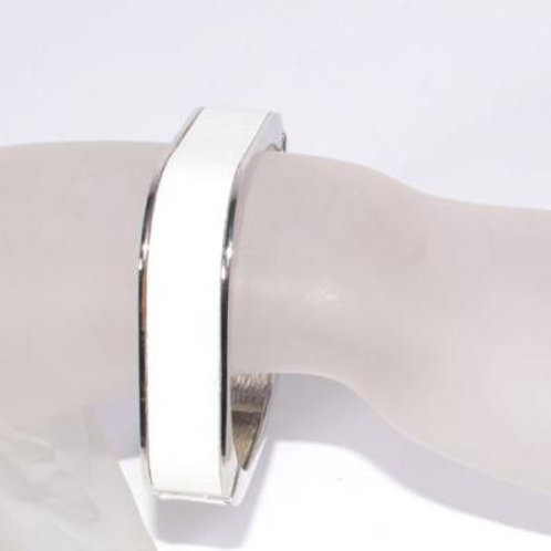 WHITE SQUARE CUFF BANGLE