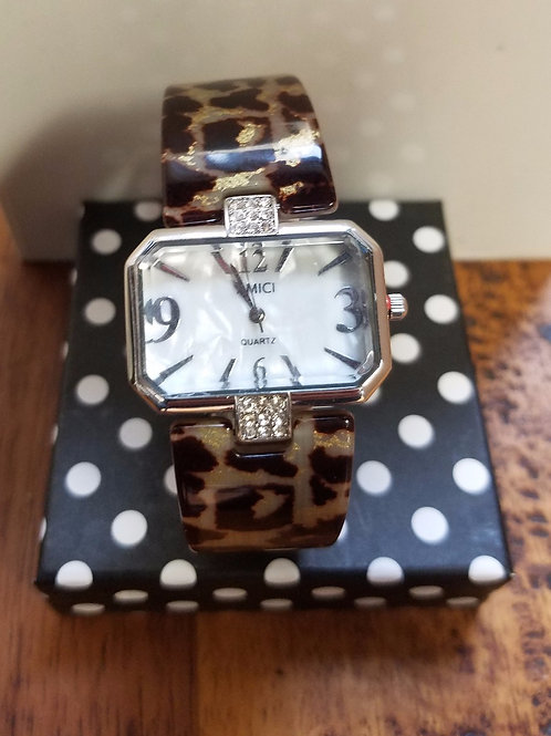 ANIMAL PRINT WITH CHAIN WATCH