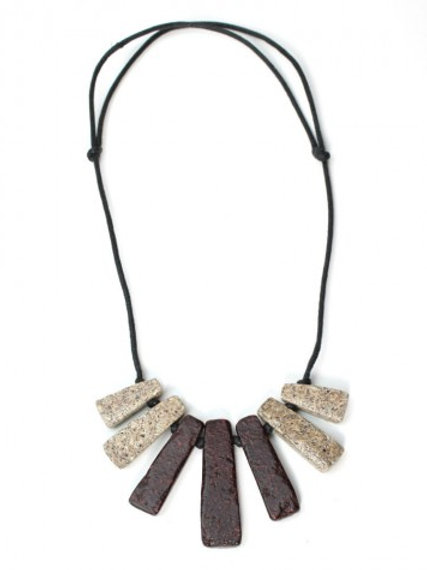 HANDCRAFTED RECYCLED WOOD NECKLACE