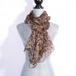 BROWN LIGHT & LIVELY SILK SCARF