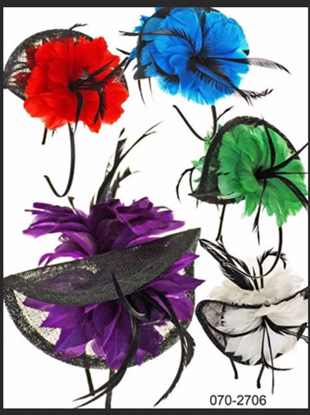 2 FLOWER FOLD FASCINATOR HEADBAND