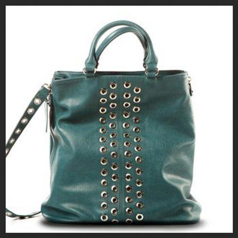 BLUE STUDDED BAG