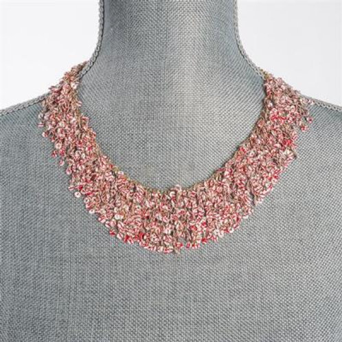 RED & WHITE SEQUINS NECKLACE