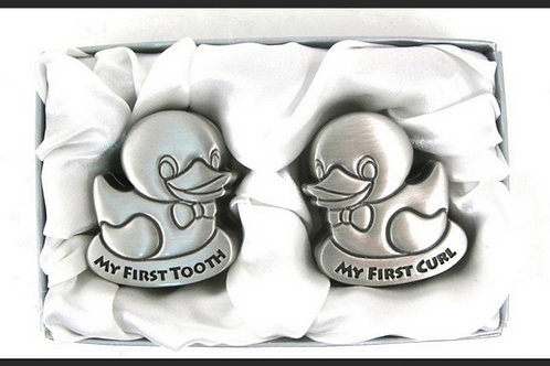 """FIRST CURL & FIRST TOOTH"" DUCK SET"
