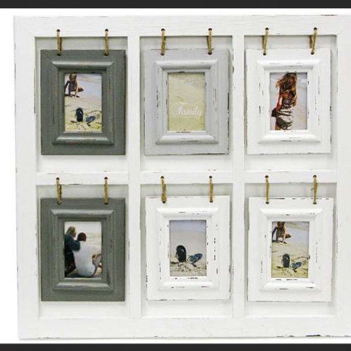 DISTRESSED HANGING 6 FRAME