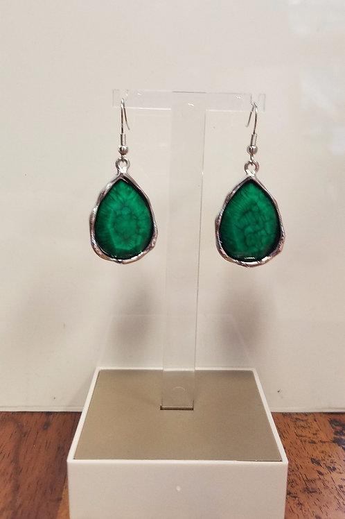 GREEN SHADE EARRINGS