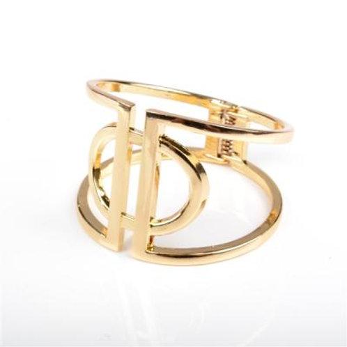GOLD FUNKY CIRCLE BANGLE