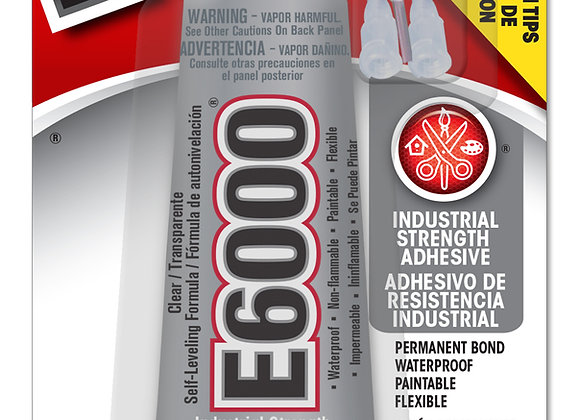 E6000 Industrial Strength Adhesive - Clear - Front View
