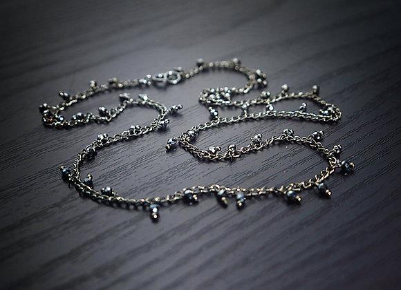 Black Spinel Dangle Necklace