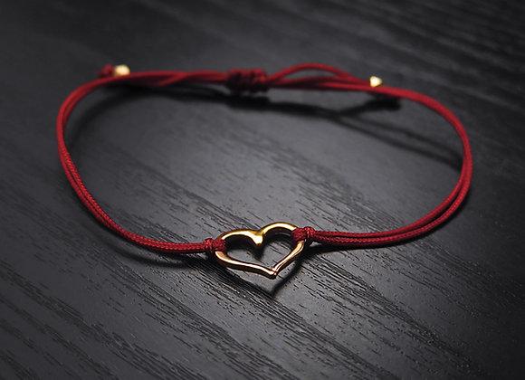 Gold Heart Macrame Bracelet
