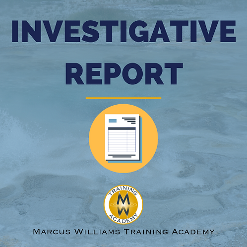 Misconduct Policy Investigation Report