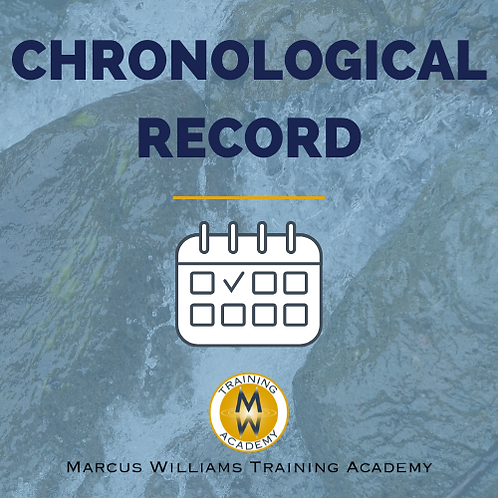 Investigation Chronological Record