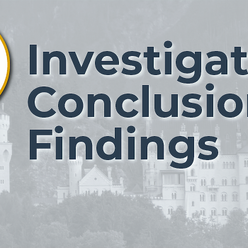 Investigatory Conclusions - Findings