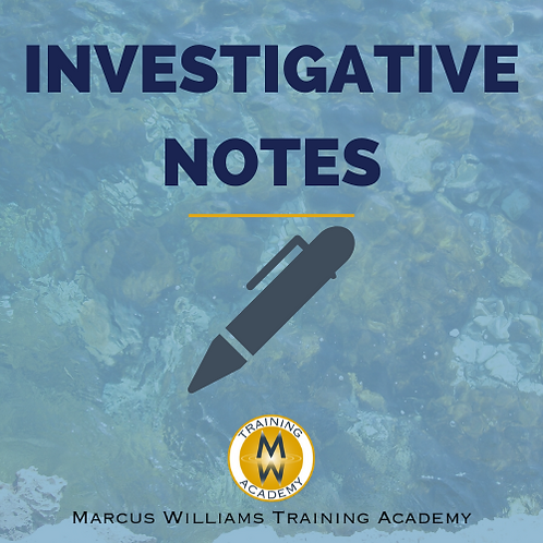 Investigative Notes Template