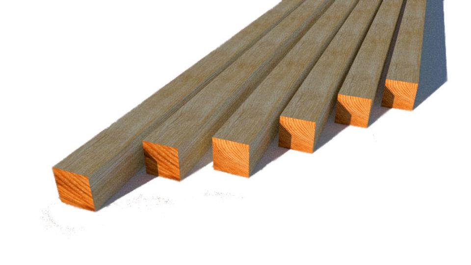 БРУС деревянный 100х100х6000 мм