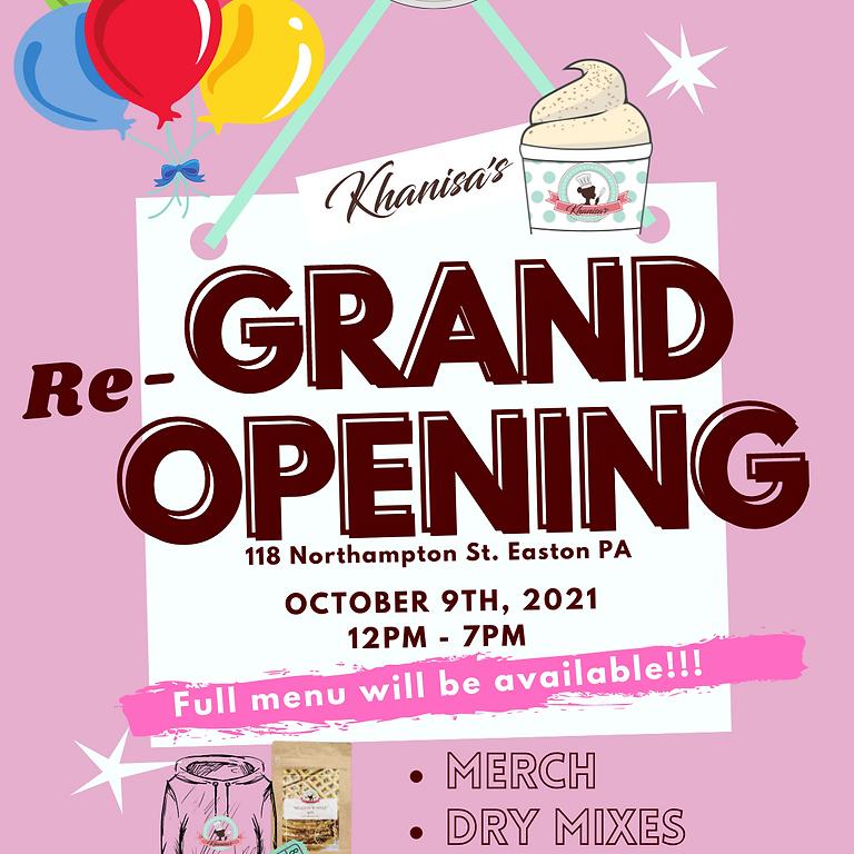 Khanisa's Grand Re-Opening