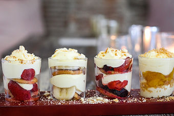 Pudding Shots, Pudding, Berries, Shots,