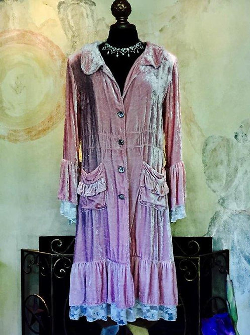 Victorian Coat in Lace & Velvet