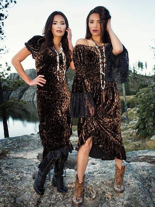Bustier Dress & Gypsy Dress in Silk Velvet