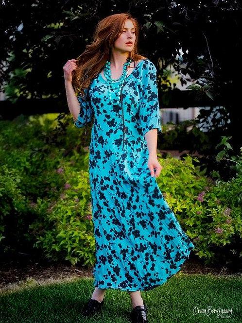 Vintage Dress (Blue Floral)