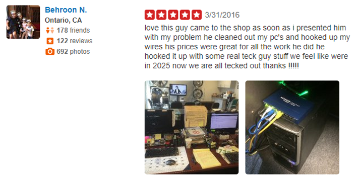 yelp 5 stars review