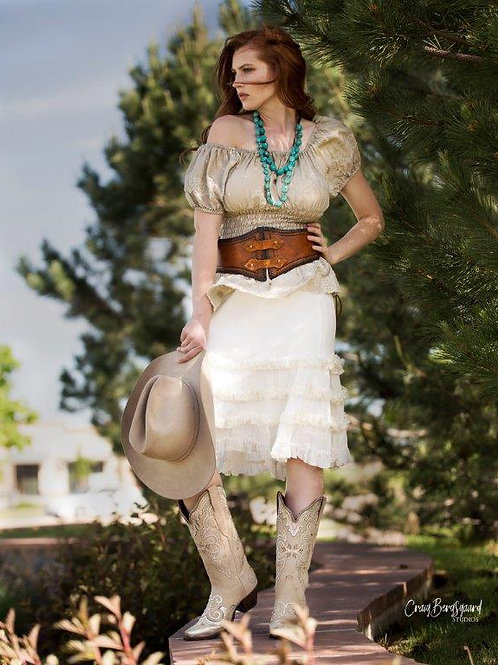 Crinoline Skirt & Peasant Puff Top